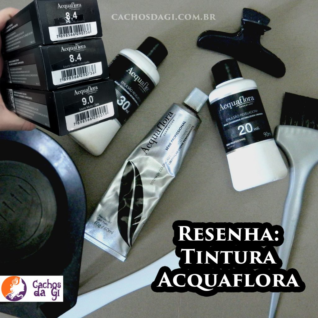 Resenha Tintura Acquaflora 8.4 e 9.0